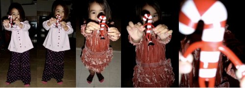 Alexandria and her dancing candy cane