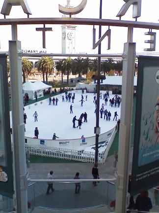 Embarcadero skaters outside the Hyatt