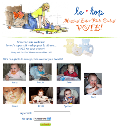 click on the image to vote for messiest eater photo contest winner!
