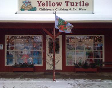 Yellow Turtle in (brrrrr!) snowy Stowe, VT