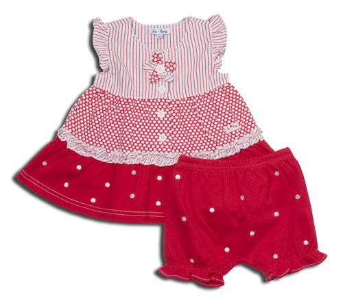 Daisy Dot Dress and Bloomers from the le•top Spring 09 Collection