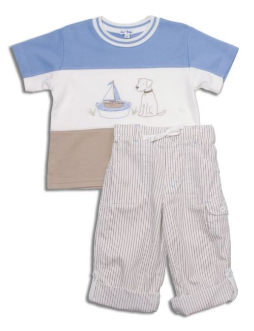 Ship Ahoy Puppy in infant and toddler sizes from the le•top Spring 09 Collection