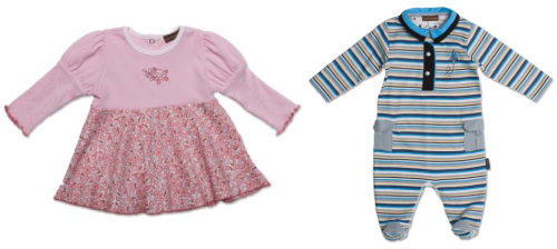 A couple of Marrisa's faves: a Lavey Collection Dress for her 21 month ld daughter and a Rocket Collection footed coverall for her son due March 27th!