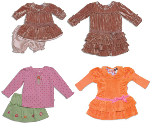 Awww...coordinating sister outfits from the le•top Twinkle Collection. le•top's Flower Power shirt and skirt set