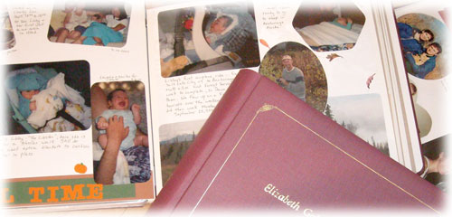 Memory lane visits through scrapbooking!