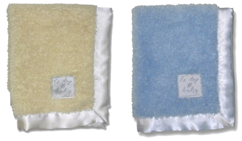 le•top baby: 12x14 soft soft security blanket in Yellow and Blue