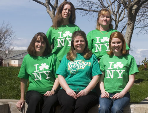 Karen, Julie (top row, left to right), Chris, Kathy, Kristin (seated, left to right)