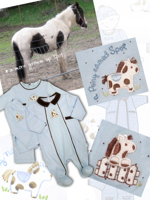 Design board for le•top baby Pony Collection, Fall 08