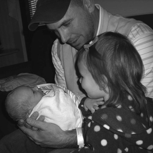 Jake and Kate with Daddy