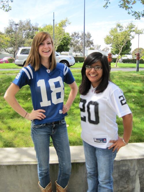 Sarah and Diana in Their Jerseys