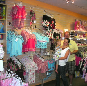 Inside her Beautiful Store with her Lovely Family