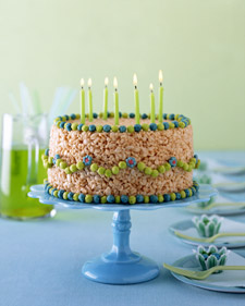 Birthday Cake Rice Krispie Treats Cake By Courtney