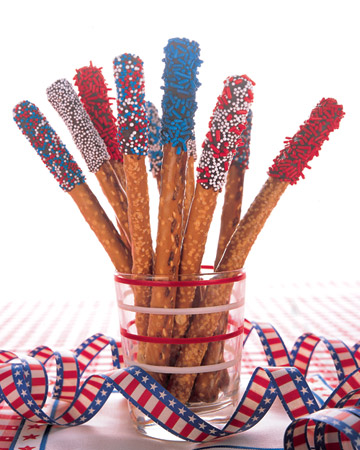 Memorial Day Festive Snacks For Kids Pretzel Sparklers