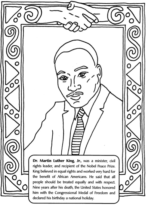 mlk day coloring pages - martin luther king jr day activity for kids le top blog